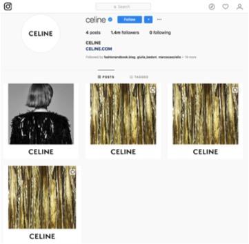 celine instagram